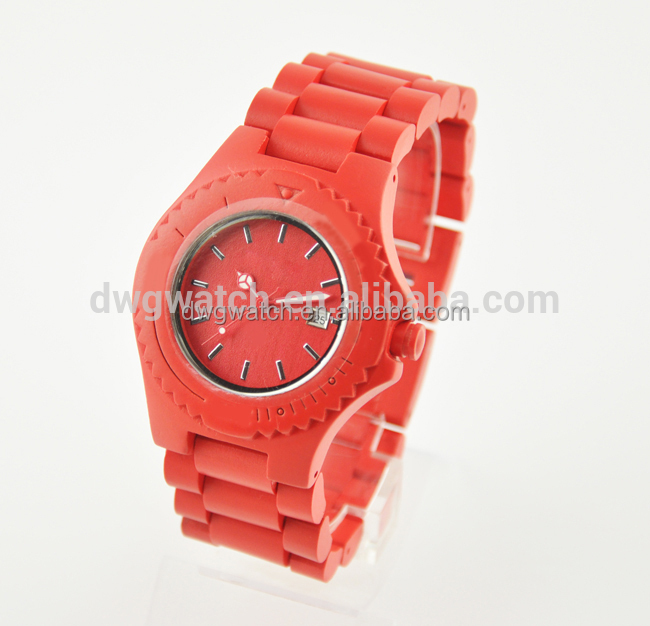 Bright color gift box watch, wooden materal