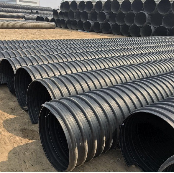 Sn8 80inch Hdpe Twin Double Wall Corrugated Sewer Drainage