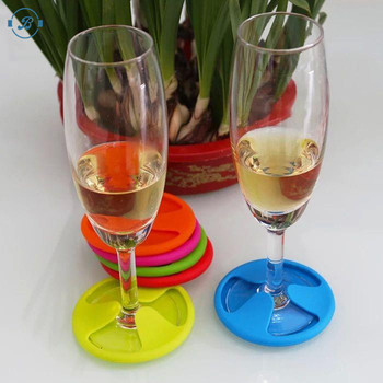 BPA free Premium Quality Non-Slip and Leakproof Good Grip & Deep Tray Silicone Rubber Drink Coaster