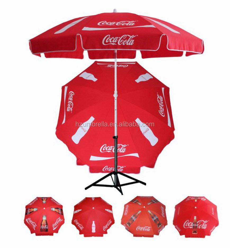 Red Coca Parasol Umbrella Cola Beach Umbrella   Buy Coca