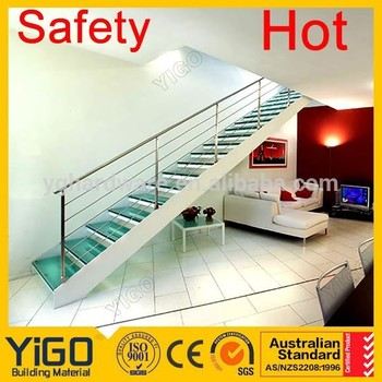 Indoor Double Stringer Straight Stairs/price Of Plastic Staircase