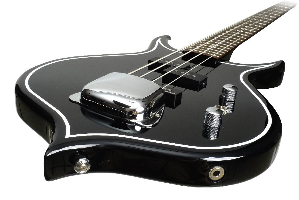 ea6b527cd Get Quotations · Gene Simmons Punisher Electric Bass Guitar Mahogany Body  Maple Neck Rosewood Fingerboard