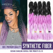 Mambo Twist Braid Ombre Three Tone Color Synthetic Braiding Hair Extensions