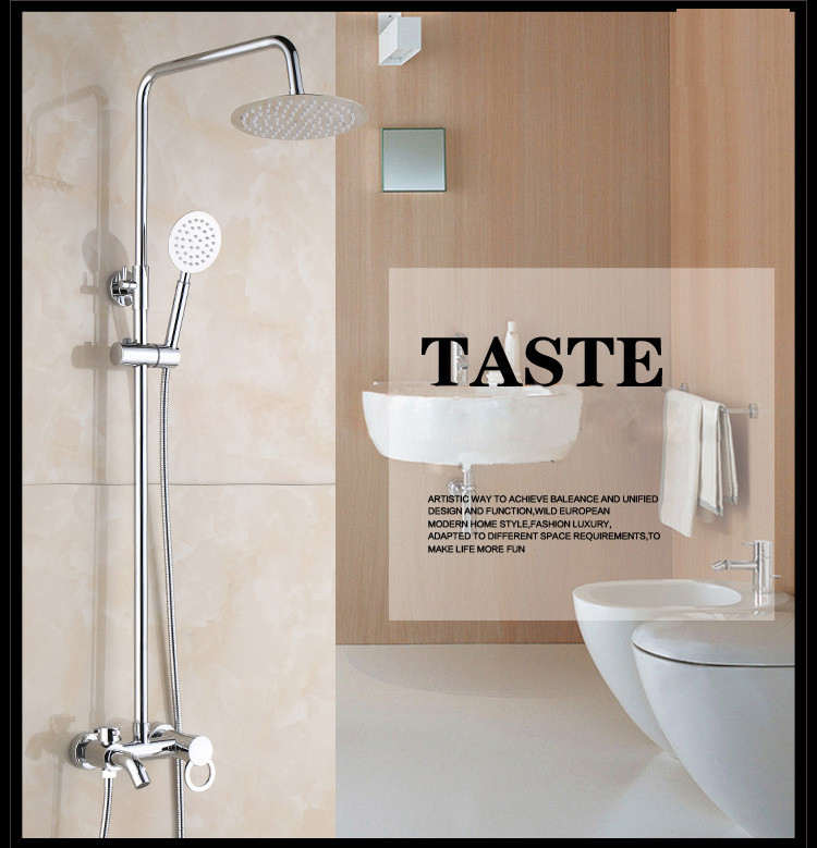 Latest New Ultra-thin Stainless Steel Bath Rain Shower Set With Good Price