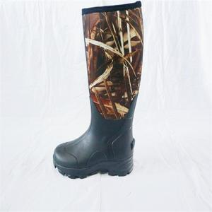 Factory wholesale High Quality Waterproof Men Camo Rubber Hunting Neoprene Boots