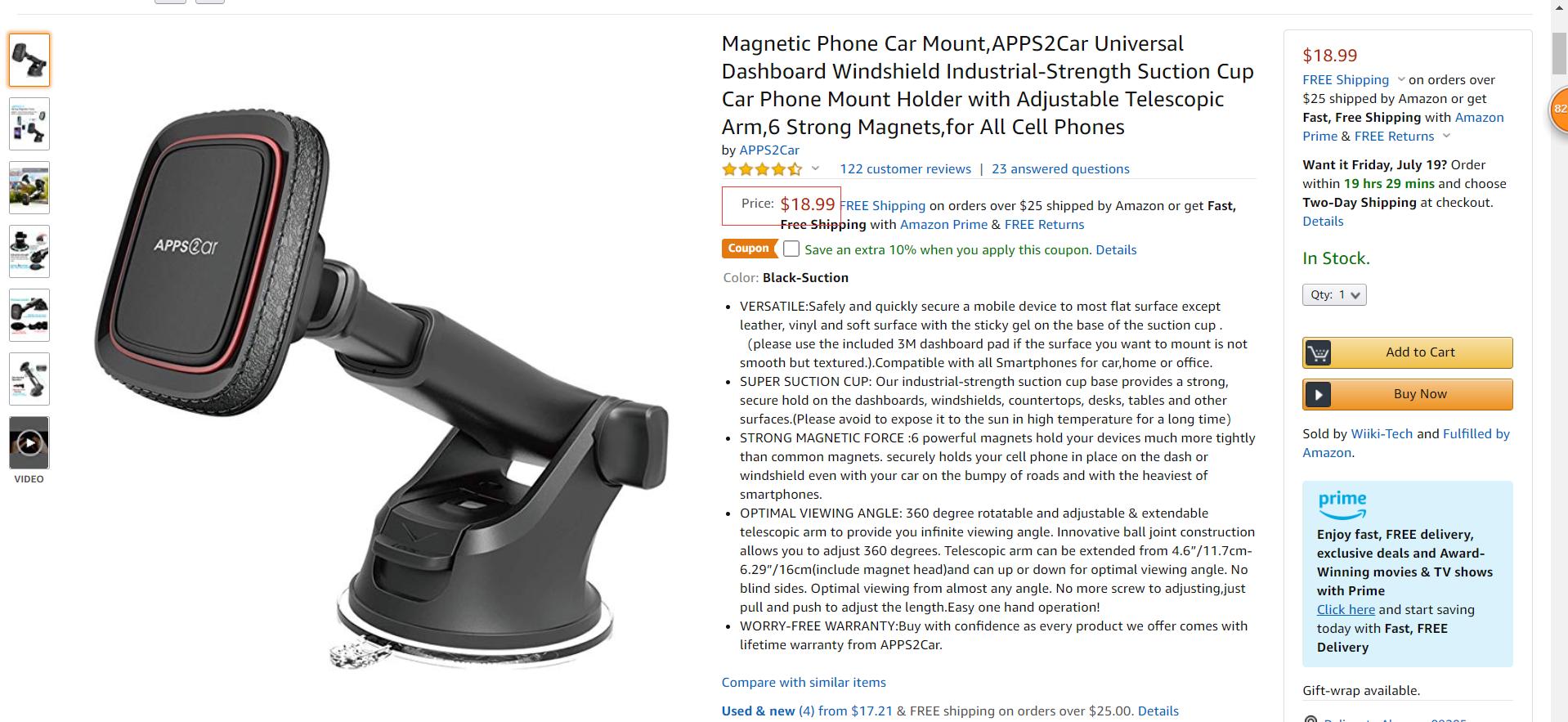 Universal  magnetic phone holder car phone mount mobile phone holder