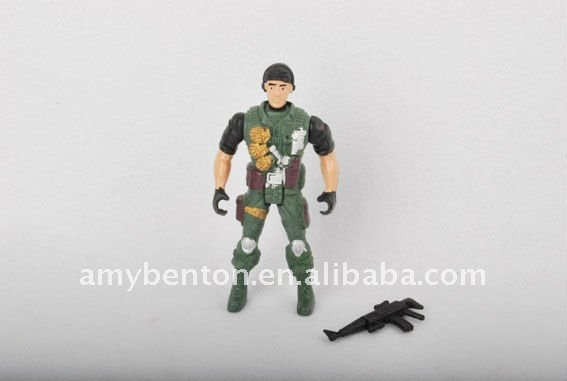 Plastic soldier man figure toy