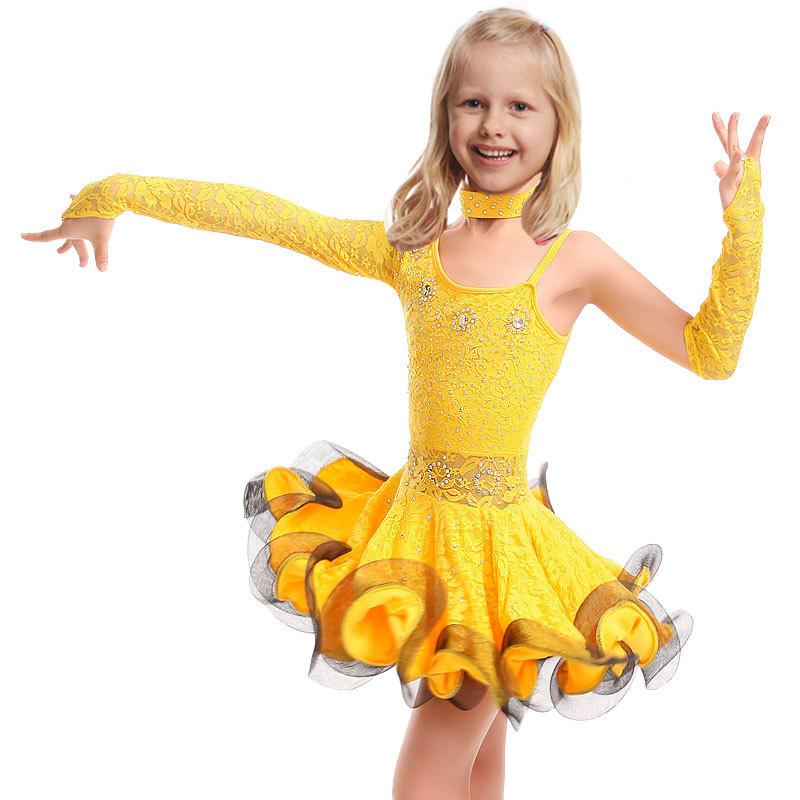 7f902756c857 Buy Lace Latin Girls Dance Dress For Girls Dancewear Samba Ballroom ...