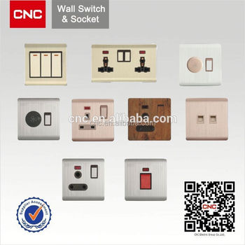 British Type Socket Wall Switch With Led Indicator Light Buy Wall