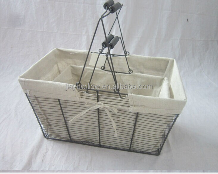 handmade stainless steel book basket wire metal letter basket metal wire office baskets