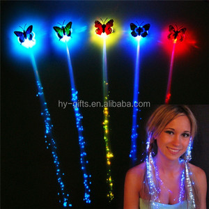 party favor led hair party supply decoration lighted plastic led hair