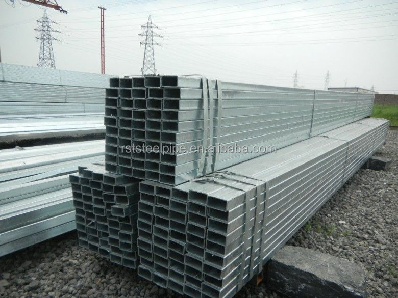 Gi square pipe ! galvanized square steel tube hollow section vietnam