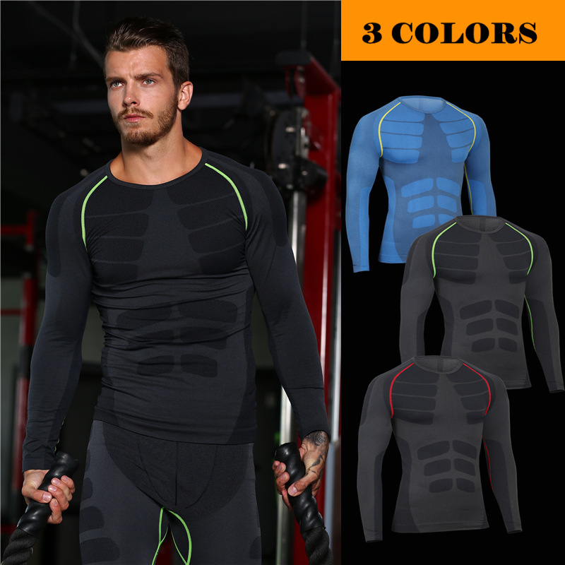 Quick Dry Exercise Workout Compression Men Workout Clothes Gym Clothing