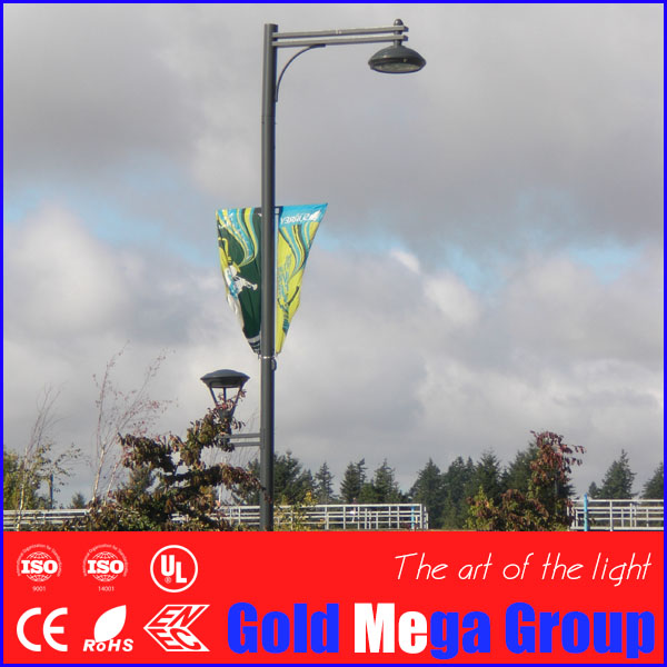 6m Height Parking Lot Lighting Pole With Advertisement Bracket ...