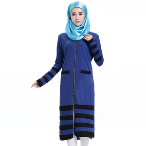 New No Headscarf And Pockets Single Layer Abaya With Zipper Wholesale