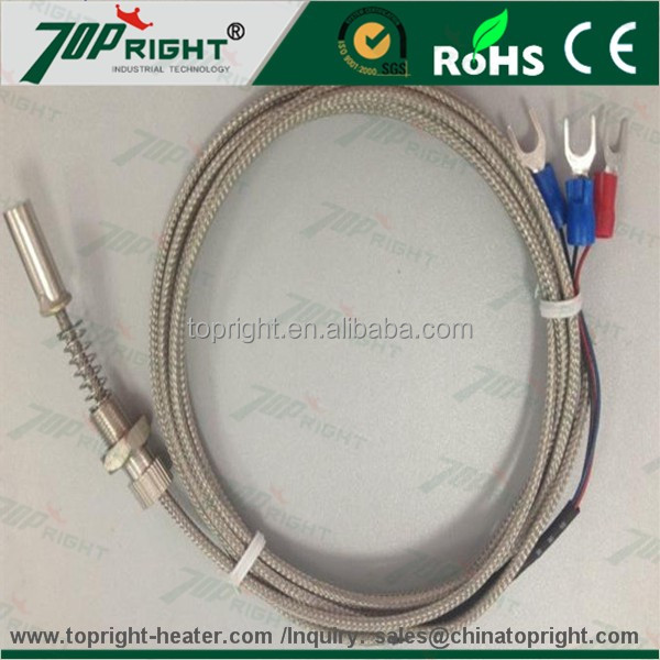 High performance PT100 sensors thermocouple connection 11mm tube with 150mm spring