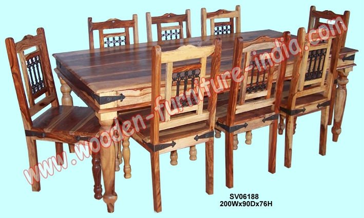 Dining Set,Indian Wooden Furniture,Home Furniture,Table,Chair - Buy Modern  Dining Sets Furniture,Mango Wood Dining Room Table And Chairs,Solid Wood  Dining ...