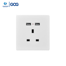 Universal Double USB 13a Multi 3 Pin 2 Gang Usb Wall Socket With Best Price