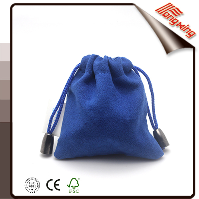 2016 Alibaba china luxury custom velvet drawstring pouch bag