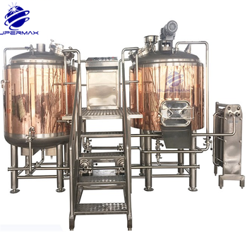 Red copper automatic beer brewing equipment nano mini 3bbl