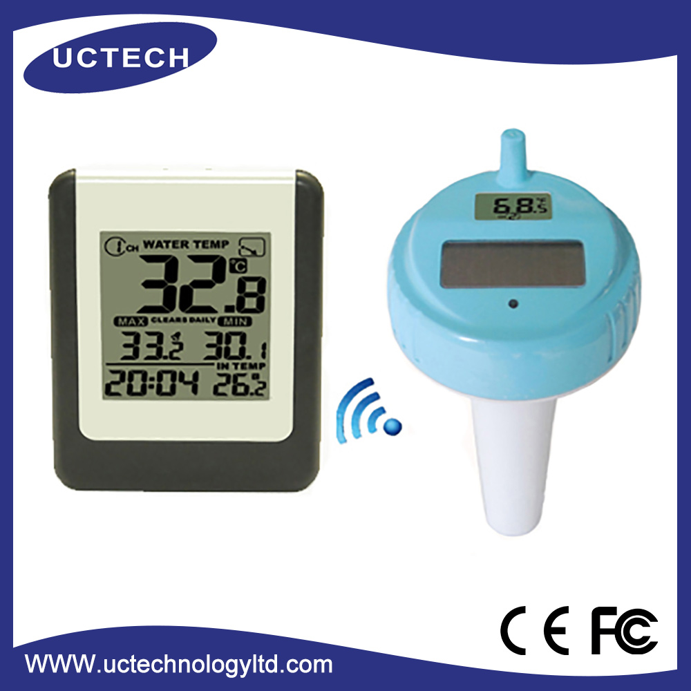 New style water proof FT008 Wireless Solar Swimming Pool Thermometer with temperature