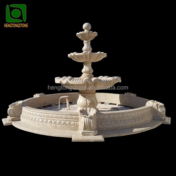 Stone Garden Products Cheap Yellow Granite 3 Tier Water Fountains