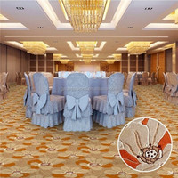 Flower pattern traditional wool chinese rugs and carpets fpr dining hall
