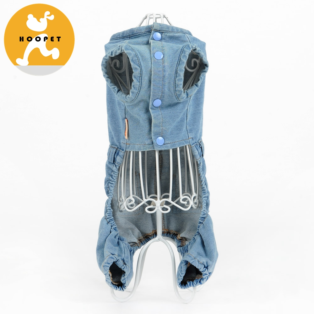Autumn & Spring Dog Jeans Jumpsuit Pet Siamese Trousers