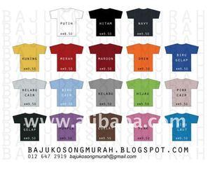 Baju T Shirt Kosong Baju T Shirt Kosong Suppliers And Manufacturers At Alibaba Com
