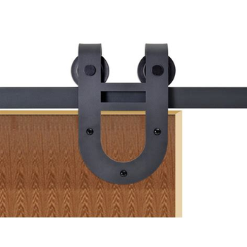 Outdoor Sliding Barn Gate Wood Door Kit Hardware With Vision Panel