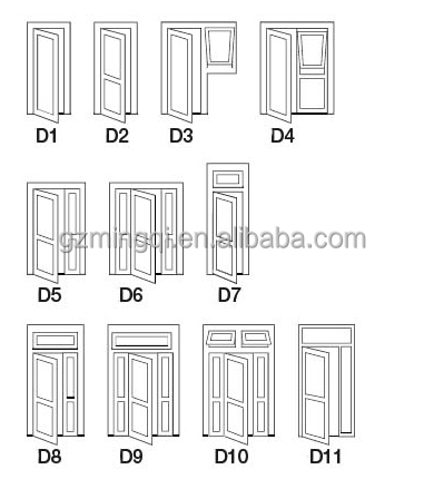 Aluminum single panel garden door , aluminum glass panel door