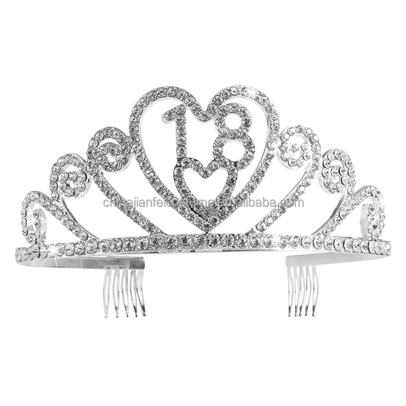 Silver Diamond Crystal 18th Birthday Adult Tiara Crystal Tiara Birthday Princess Crown