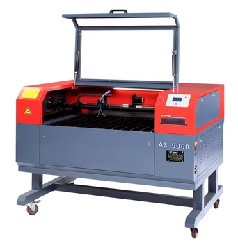 Baisheng AS-9060 60W CO2 laser cutting engraving machine with up-down table  and rotary tool, View CO2 laser cutting and engraving machine, BAISHENG