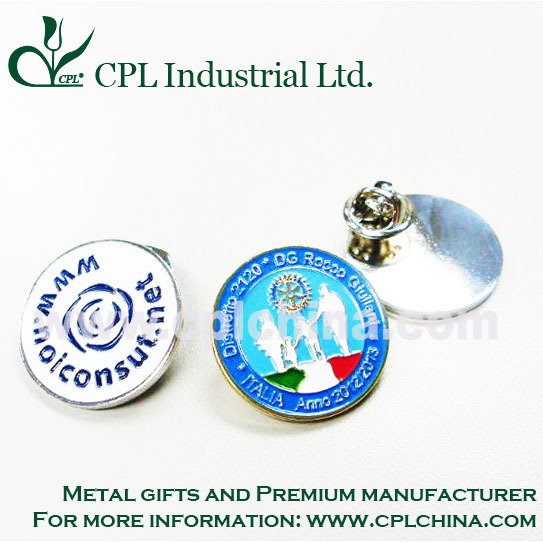 custom metal badge promotion printing badge pin
