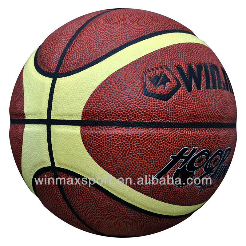 winmax match play high grade PU leather basketball /official size 7 leather basketball