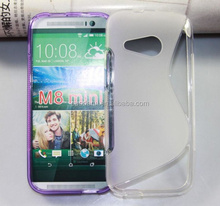 For HTC M8 Mini TPU Gel Soft Cover S Line Wave Case