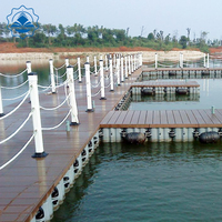 Floating Jetty aluminum dock & floating pontoon bridge stronger for design for good sale