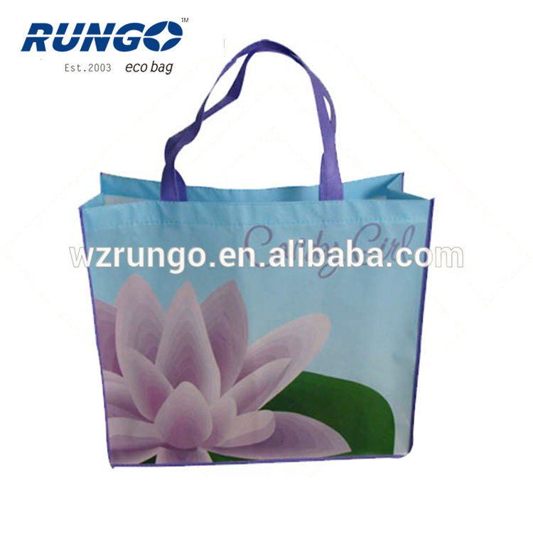 Pictures printing fashion non woven shopping bag /promotional bag