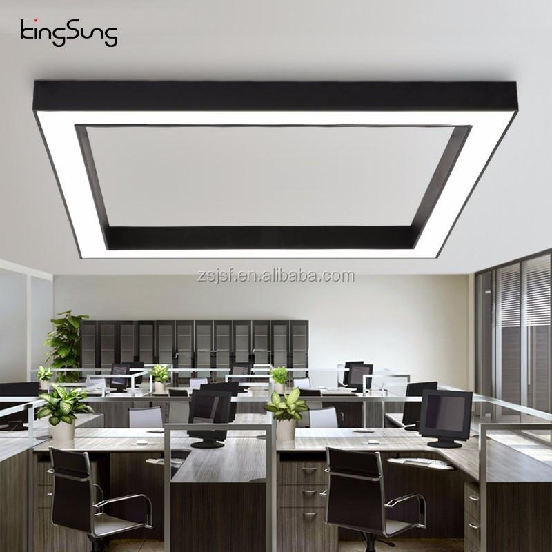 office pendant light. Square 48W Modern Aluminium Strip Led Office Hanging Light Pendant A