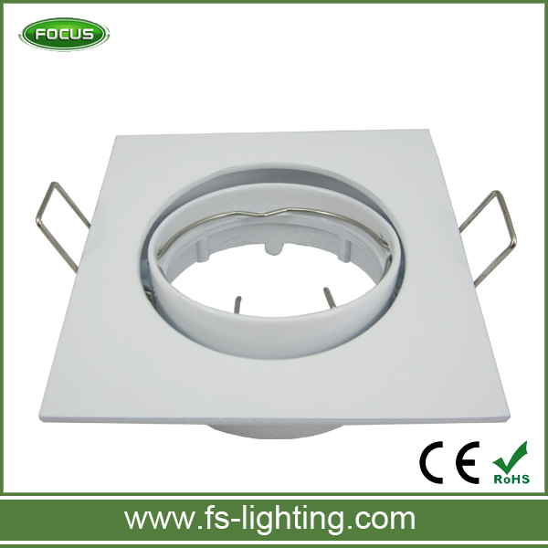 White/Satin Nickel Square Holders/Fixtures for LED Ceiling Spotlight/Downlight GU10 MR16