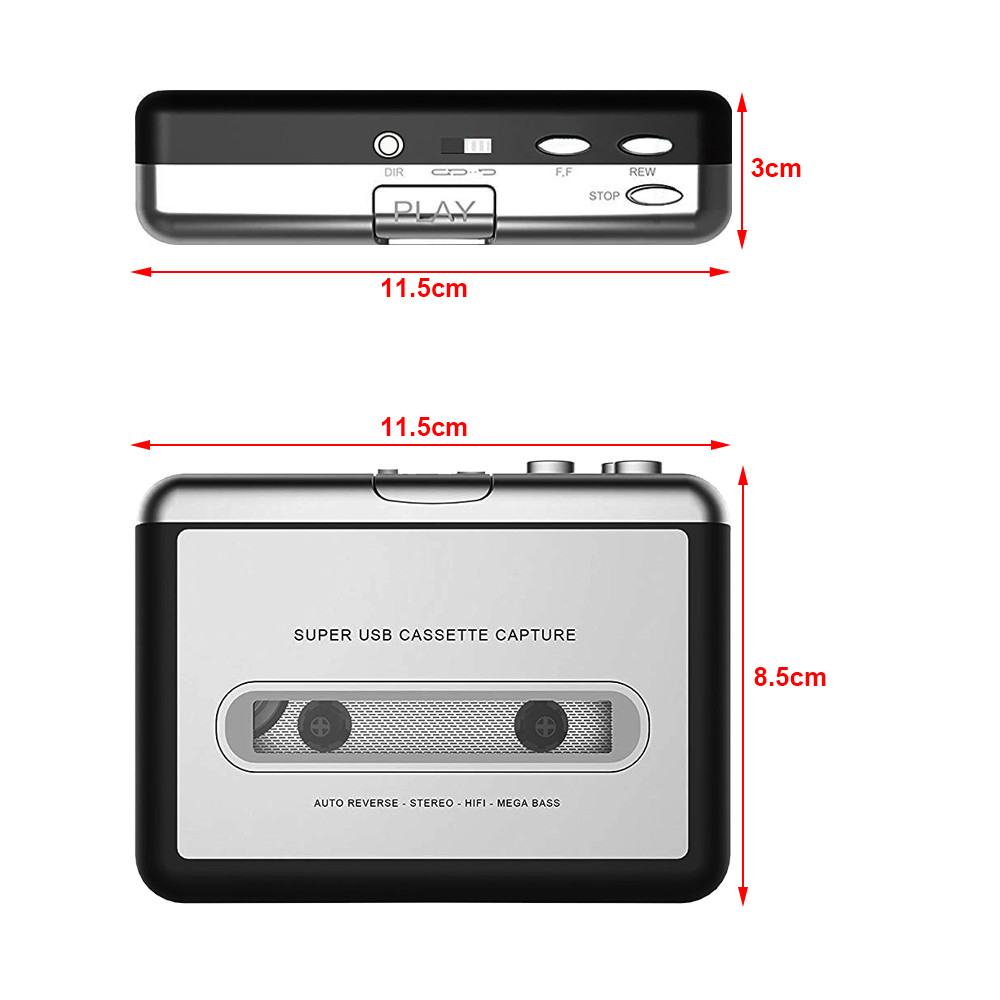 Heim-audio & Video Cassette & Spieler GüNstiger Verkauf 1 Set Tragbare Usb Cassette Player Erfassen Cassette Recorder Konverter Digital Audio Musik-player