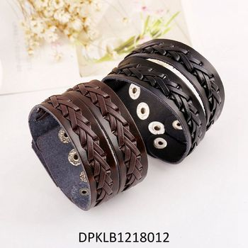 wl leather braided giiftbag handy amazon set cord surfer wrap bead dp boy in wristband mens com bracelet reusable