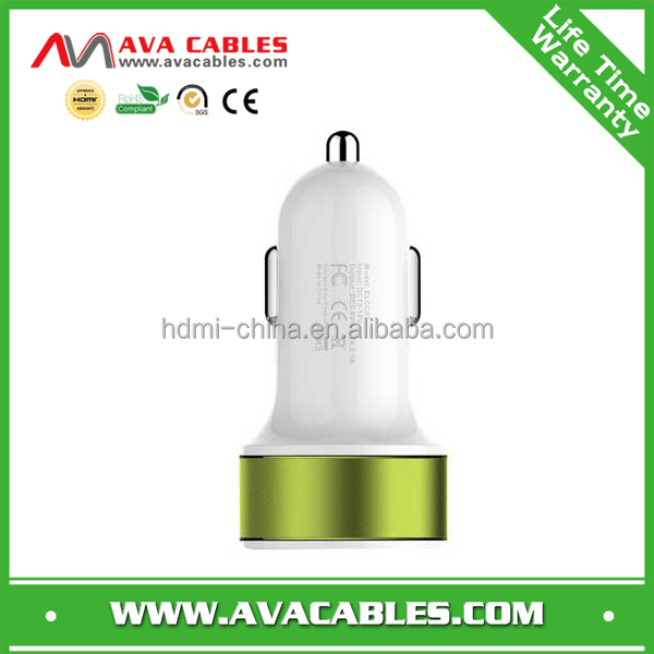 Promotional Dual USB Car Charger, Micro USB Charger,Portable Mobile Charger