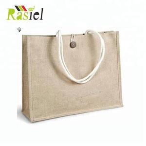 jute cotton Bag gift with Custom logo Printed Promotional