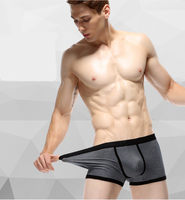 Silk boxer briefs men egyptian cotton underwear