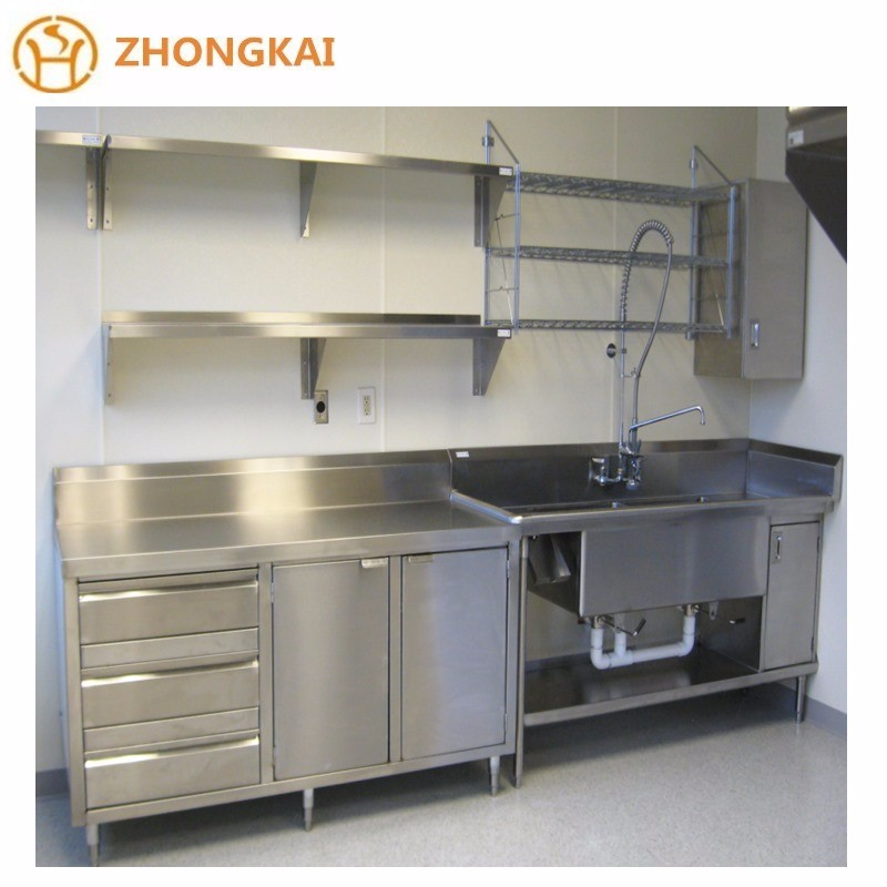 Stainless Steel Cabinets For Kitchen: Full 201 Or 304 Stainless Steel Modular Kitchen Design