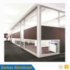 factory price office double single glass partition wall full height aluminum material