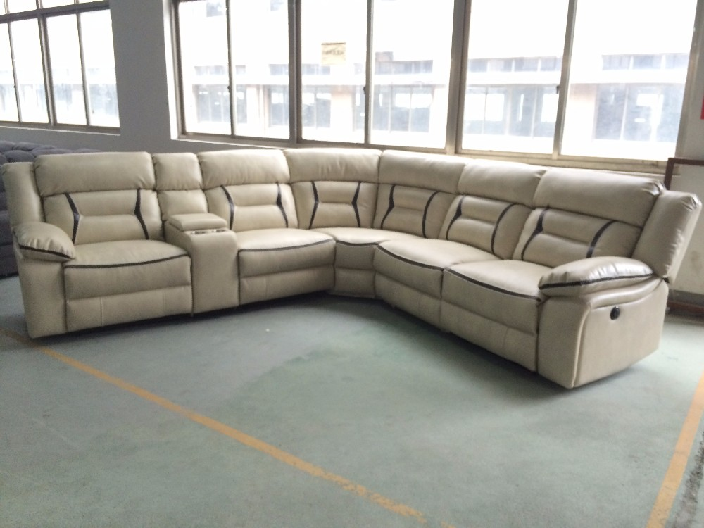 Corner sofa furniture air leather motion sectional sofa for Used modern sectional sofa