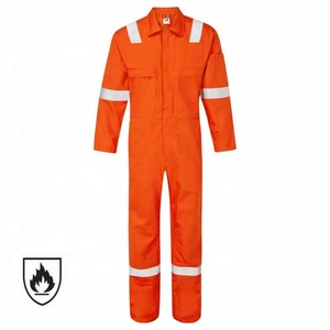 High Quality Orange Two Way Zipper Front Fire Retardant Coverall