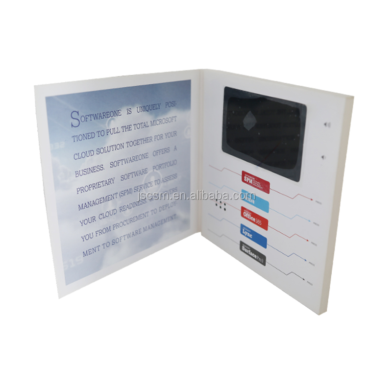 Hot 4.3 inch A4 A5 embossed printing video module for advertising